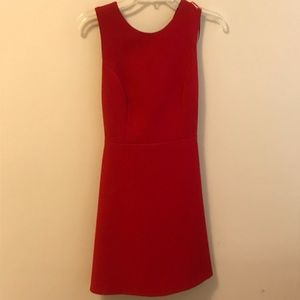 Red Zara Dress with bow tie open back